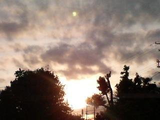 雨あがりの夕方